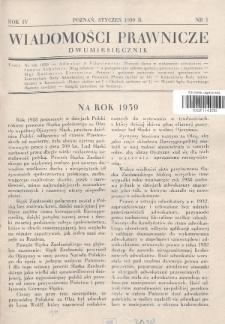 Wiadomości Prawnicze. 1939, nr1