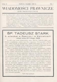 Wiadomości Prawnicze. 1939, nr2