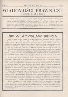 Wiadomości Prawnicze. 1939, nr3