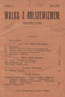 Walka z Bolszewizmem. 1927, nr1