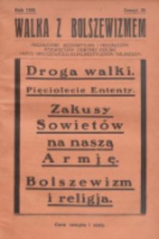 Walka z Bolszewizmem : miesięcznik bezpartyjny i niezależny, poświęcony obronie Polski przed bolszewicko-komunistycznym najazdem. 1929, nr20
