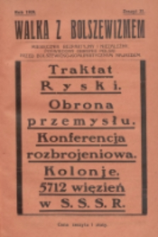 Walka z Bolszewizmem : miesięcznik bezpartyjny i niezależny, poświęcony obronie Polski przed bolszewicko-komunistycznym najazdem. 1929, nr21