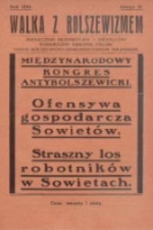 Walka z Bolszewizmem : miesięcznik bezpartyjny i niezależny, poświęcony obronie Polski przed bolszewicko-komunistycznym najazdem. 1930, nr32