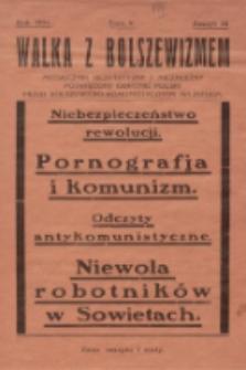 Walka z Bolszewizmem : miesięcznik bezpartyjny i niezależny, poświęcony obronie Polski przed bolszewicko-komunistycznym najazdem. 1931, nr 34