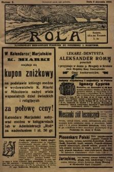 Rola : ilustrowany bezpartyjny tygodnik ku pouczeniu i rozrywce. 1935, nr2
