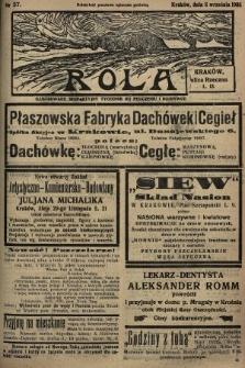 Rola : ilustrowany bezpartyjny tygodnik ku pouczeniu i rozrywce. 1935, nr37