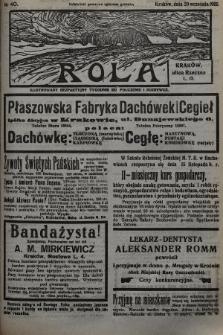 Rola : ilustrowany bezpartyjny tygodnik ku pouczeniu i rozrywce. 1935, nr40