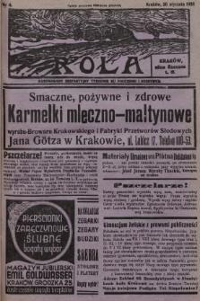 Rola : ilustrowany bezpartyjny tygodnik ku pouczeniu i rozrywce. 1938, nr4