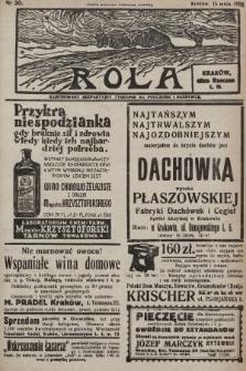 Rola : ilustrowany bezpartyjny tygodnik ku pouczeniu i rozrywce. 1938, nr20