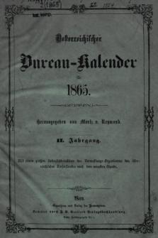 Oesterreichischer Bureau - Kalender für das Schaltjahr 1865