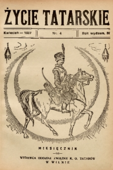 Życie Tatarskie. 1937, nr 4
