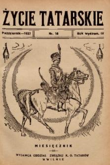 Życie Tatarskie. 1937, nr 10