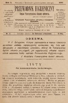 Przewodnik Higjeniczny : Organ Towarzystwa Opieki Zdrowia. 1889, nr 2