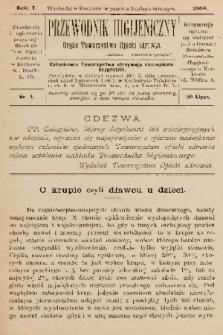 Przewodnik Higjeniczny : Organ Towarzystwa Opieki Zdrowia. 1889, nr 4