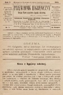 Przewodnik Higjeniczny : Organ Towarzystwa Opieki Zdrowia. 1889, nr 5