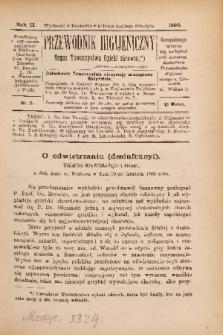 Przewodnik Higjeniczny : Organ Towarzystwa Opieki Zdrowia. 1890, nr 3