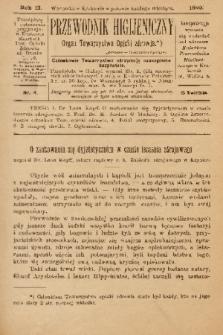 Przewodnik Higjeniczny : Organ Towarzystwa Opieki Zdrowia. 1890, nr 4