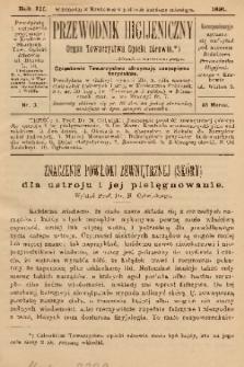 Przewodnik Higjeniczny : Organ Towarzystwa Opieki Zdrowia. 1891, nr 3