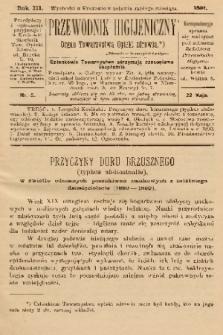 Przewodnik Higjeniczny : Organ Towarzystwa Opieki Zdrowia. 1891, nr 5