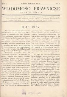 Wiadomości Prawnicze. 1937, nr1