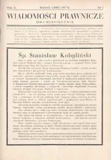 Wiadomości Prawnicze. 1937, nr4