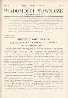 Wiadomości Prawnicze. 1937, nr5