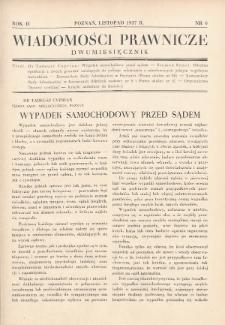 Wiadomości Prawnicze. 1937, nr6
