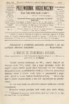 Przewodnik Higjeniczny : Organ Towarzystwa Opieki Zdrowia. 1894, nr 4