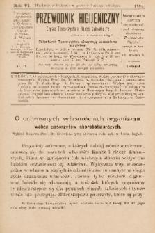 Przewodnik Higjeniczny : Organ Towarzystwa Opieki Zdrowia. 1894, nr 11