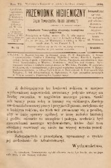 Przewodnik Higjeniczny : Organ Towarzystwa Opieki Zdrowia. 1894, nr 12