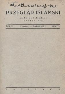 Przegląd Islamski. 1937, nr4