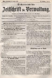 Oesterreichische Zeitschrift für Verwaltung. Jg. 3, 1870, nr52