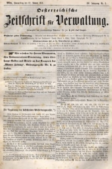 Oesterreichische Zeitschrift für Verwaltung. Jg. 4, 1871, nr2