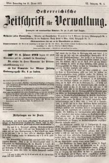 Oesterreichische Zeitschrift für Verwaltung. Jg. 6, 1873, nr3