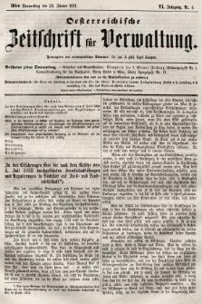 Oesterreichische Zeitschrift für Verwaltung. Jg. 6, 1873, nr4