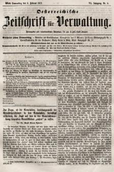 Oesterreichische Zeitschrift für Verwaltung. Jg. 6, 1873, nr6