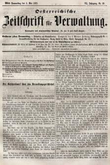 Oesterreichische Zeitschrift für Verwaltung. Jg. 6, 1873, nr19