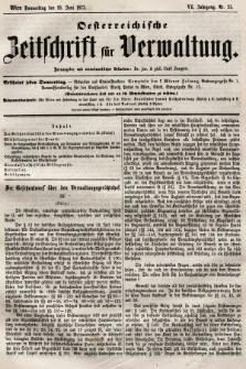 Oesterreichische Zeitschrift für Verwaltung. Jg. 6, 1873, nr25