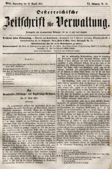 Oesterreichische Zeitschrift für Verwaltung. Jg. 6, 1873, nr33