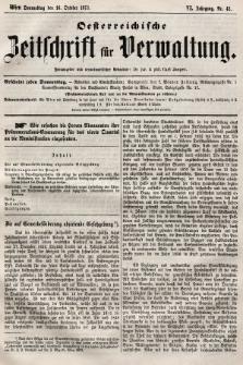 Oesterreichische Zeitschrift für Verwaltung. Jg. 6, 1873, nr42