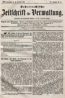 Oesterreichische Zeitschrift für Verwaltung. Jg. 6, 1873, nr51