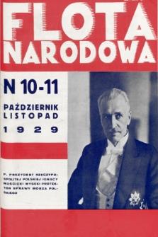 Flota Narodowa : czasopismo poświęcone polskiej ekspansji morskiej. 1929, nr10/11
