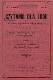 Czytanki dla Ludu. 1893, nr1
