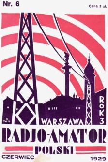 Radjo-Amator Polski : miesięcznik popularno-techniczny. 1929, nr6