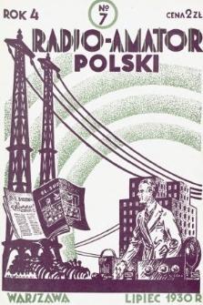 Radjo-Amator Polski : miesięcznik popularno-techniczny. 1930, nr7