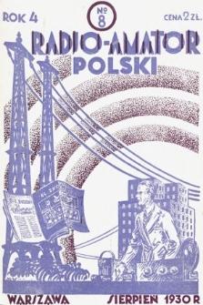 Radjo-Amator Polski : miesięcznik popularno-techniczny. 1930, nr8