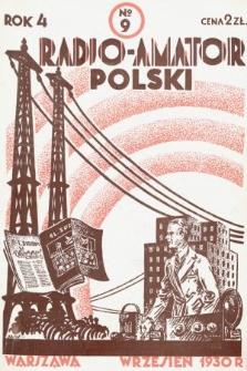 Radjo-Amator Polski : miesięcznik popularno-techniczny. 1930, nr9