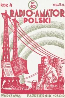 Radjo-Amator Polski : miesięcznik popularno-techniczny. 1930, nr10