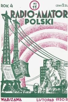 Radjo-Amator Polski : miesięcznik popularno-techniczny. 1930, nr11
