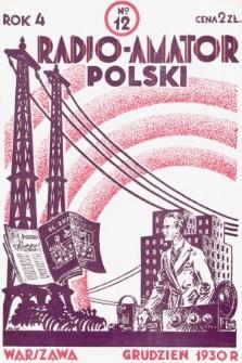 Radjo-Amator Polski : miesięcznik popularno-techniczny. 1930, nr12